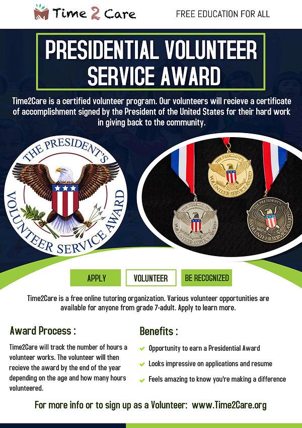 Presidential Volunteer Service Award Fly