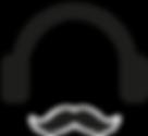 Casques d'écoute et Mustache