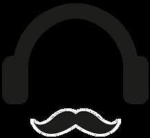 Headphones and Mustache