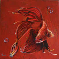 Messenger Animals Series: PHOENIX (2019) 40*40cm acrylic & oil on canvas  SOLD