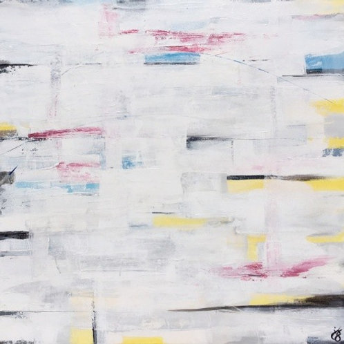 Meet In The Middle | Abstract Painting For Sale By Julie Gudger