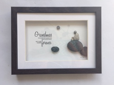 Pebble Art Grandma 5x7