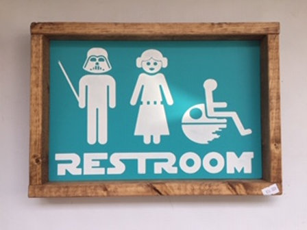Star Wars Restroom Sign
