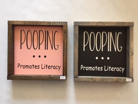 Pooping Promotes Literacy