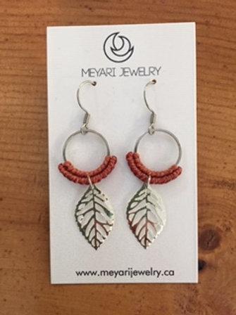 Silver & Orange Earrings