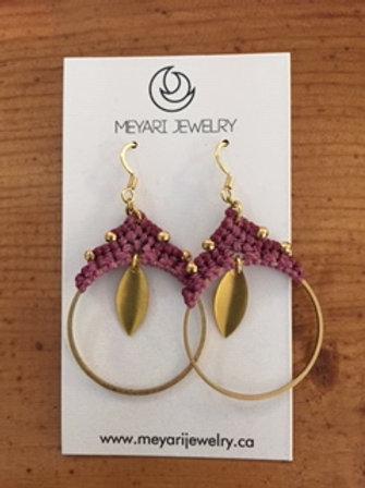 Gold & Purple Earrings