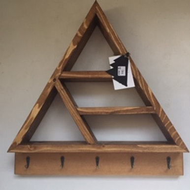 Large Triangle Shelf with Hooks