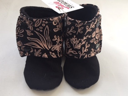 Floral Booties 12-18 Months