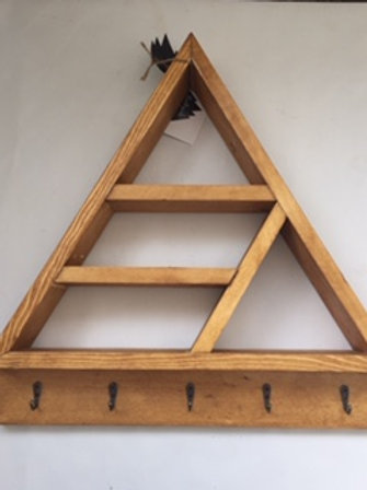 Triangle Shelf with Hooks