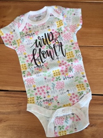 Wild Flower Onesie 3-6 Month