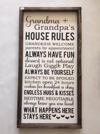 Grandma & Grandpa's House Rules