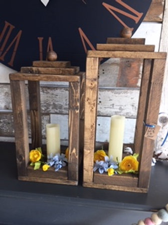 Set of Wooden Lanterns
