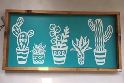 Turquoise Cactus Sign