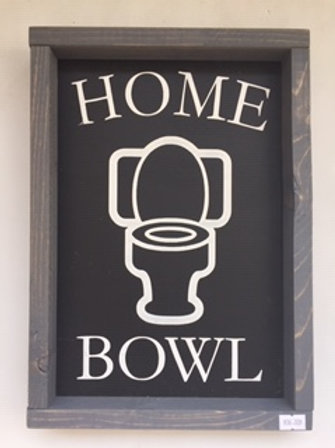 Home Bowl sign