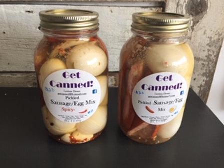 Pickled Sausage/Egg Mix
