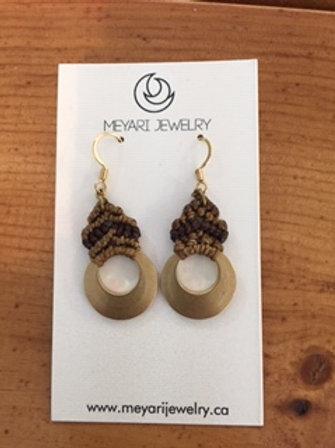 Gold & Brown Earrings