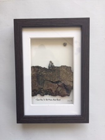 Pebble Art Love You To Moon 5x7