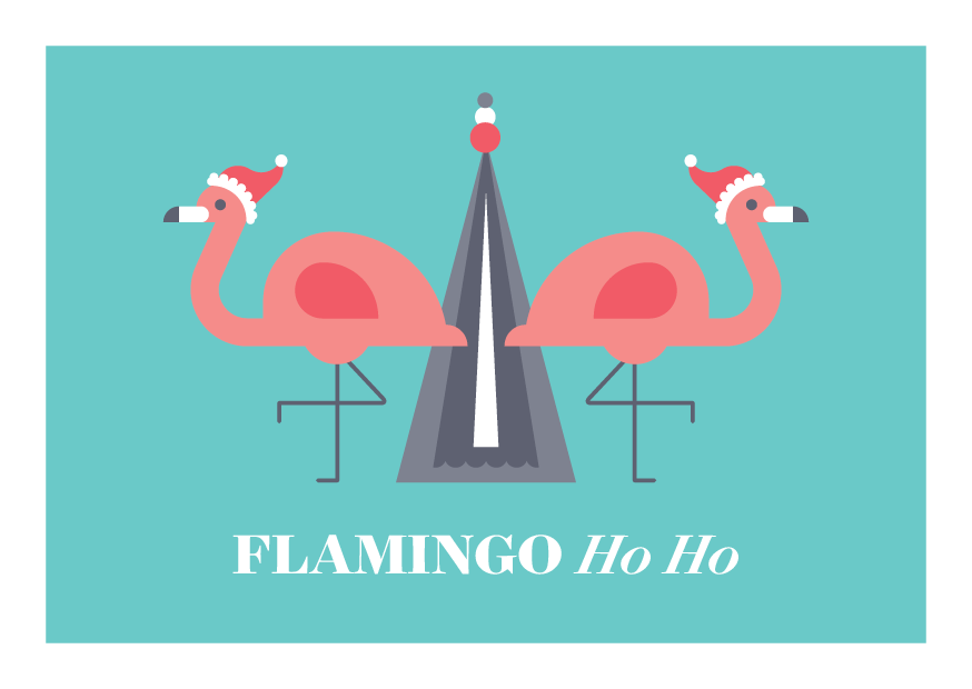 12 Days of Puns - flamingo