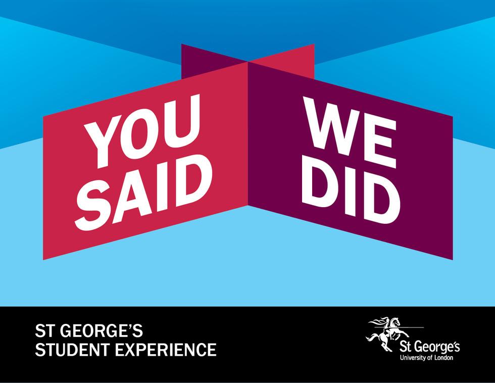 St George's You Said We Did