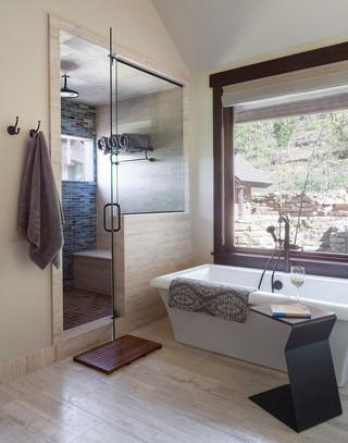 Mountain Contemporary Master Bath Shower