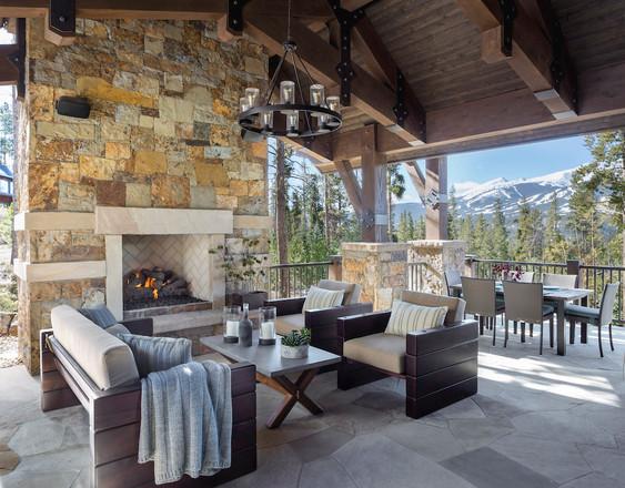 Mountain Contemporary Patio - Breckenridge, CO