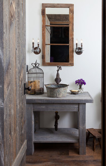 Mountain Farmhouse Powder Room