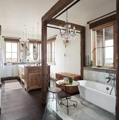 Romantic Bathroom in Farmhouse