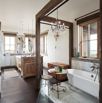 Romantic Bathroom in Farmhouse