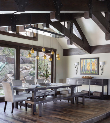 Mountain Contemporary Dining Room