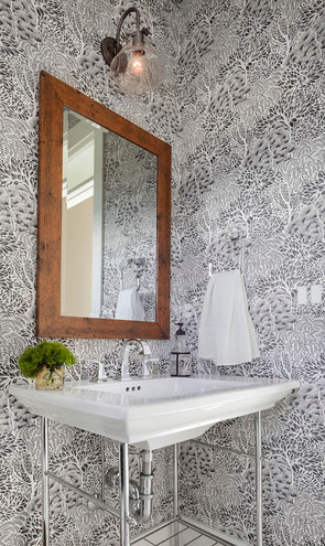 Woodsy Powder Room, Louisville, CO