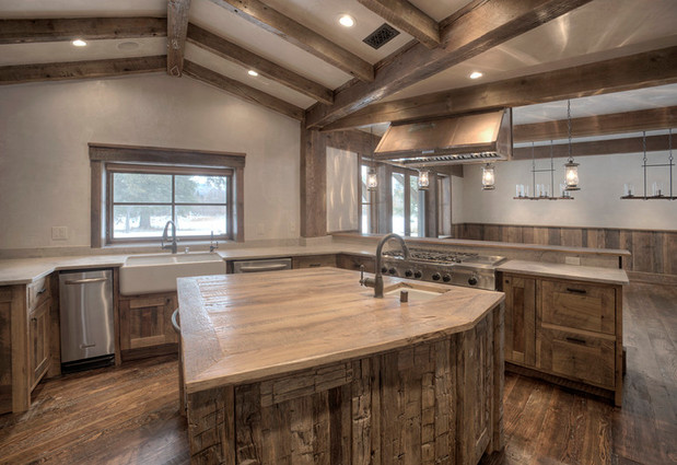 Mountain Scrape Kitchen Island