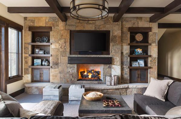 Stone Fireplace Wall - Breckenridge, CO