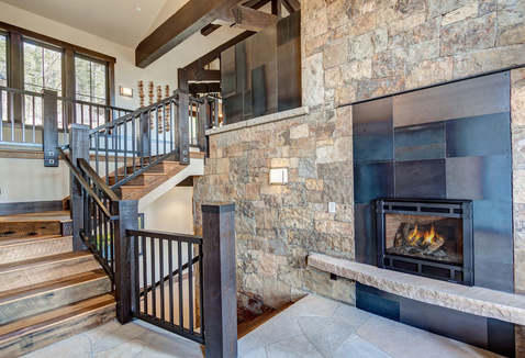 Metal Clad Foyer Fireplace