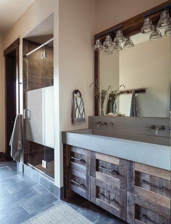Concrete Basin Bathroom - Breckenridge