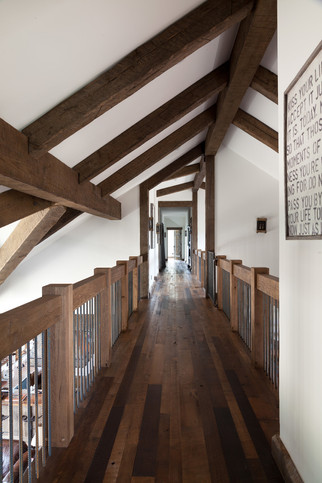 Dynamic Hallway in Farmhouse