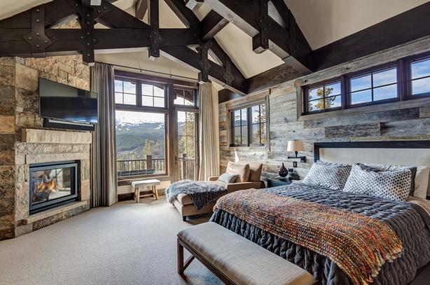 Mountain Contemporary Bedroom - Breckenridge, CO