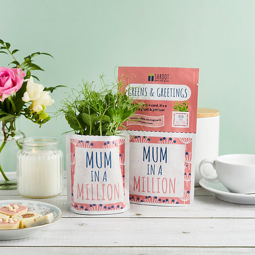Greens & Greetings: Mum in a Million