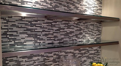 Stainless Steel and Glass Shelves