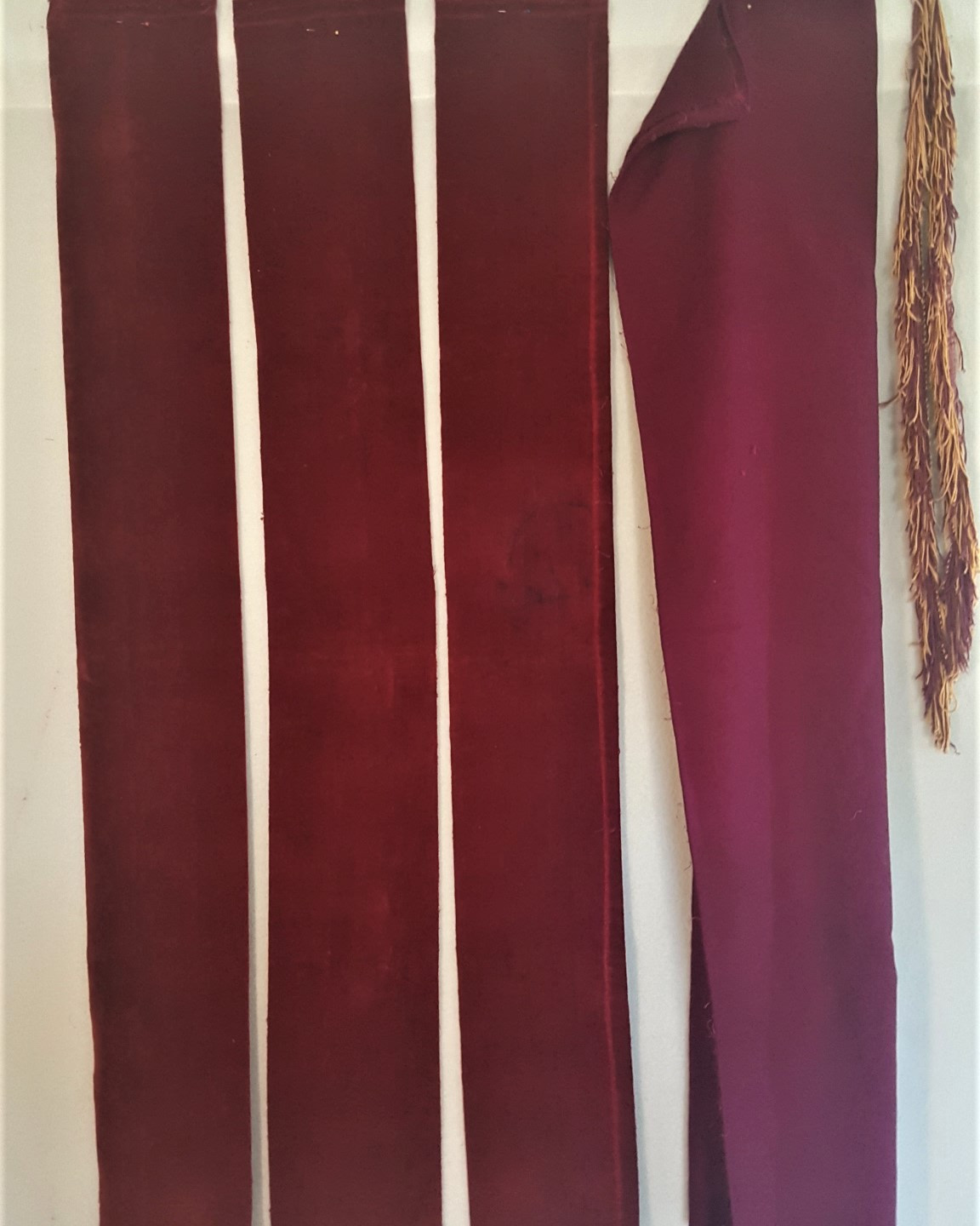 cloth and lining cut for stole