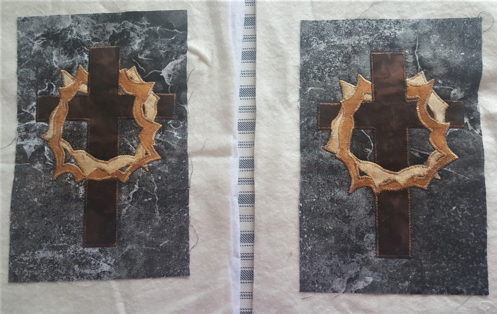 cross and crown of thorns inserts