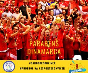 Handebol Dinamarquês é Campeão Mundial   Esporte Conviver