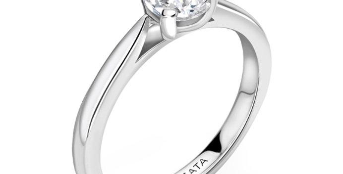 Diamond Pear Shaped Solitaire Engagament Ring
