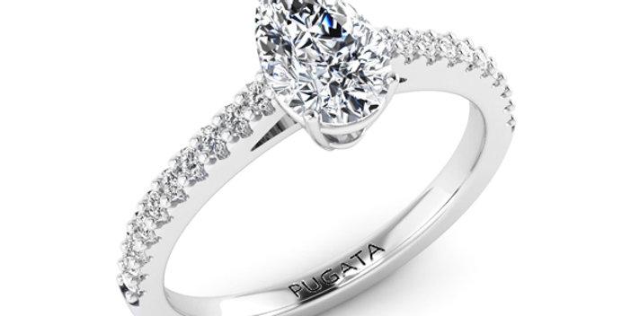 Pear Cut Diamond Engagement Ring