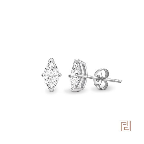 Platinum Marquise Cut Diamond Stud Earrings