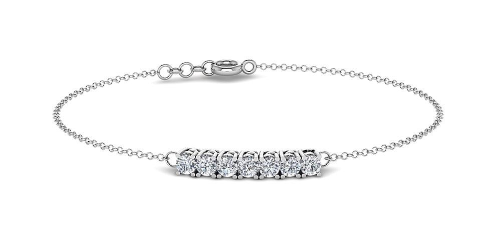 Diamond 7 Stone Bracelet
