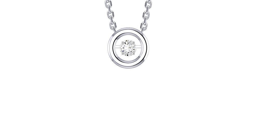 Dancing Diamond Round Pendant