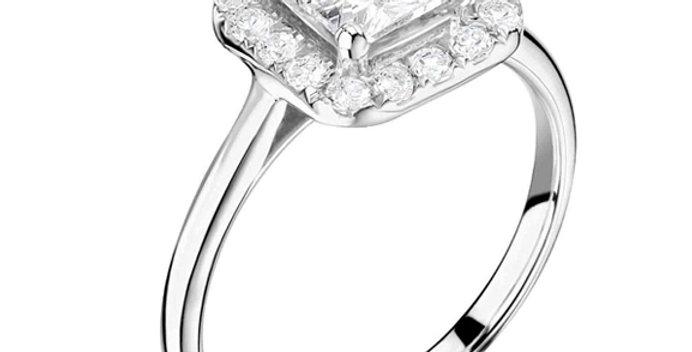 Princess Cut Illusion Ring