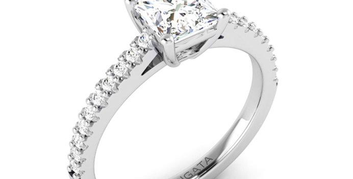 Cushion Cut Solitaire Diamond Ring