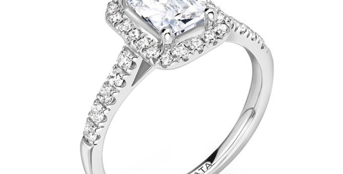 Radiant Cut Halo Engagement Ring