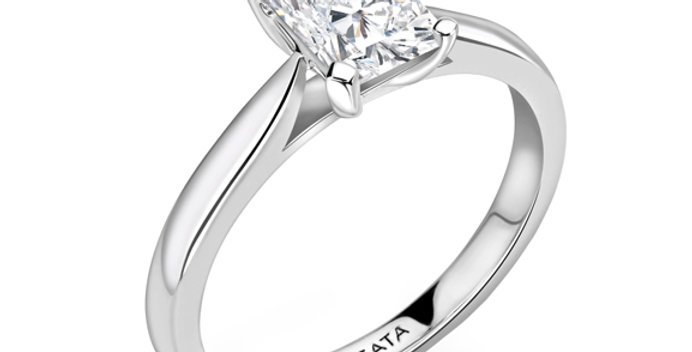 Radiant Solitaire Diamond Engagement Ring